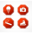 Sign forbidden on white background vector image vector image