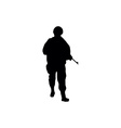 Soldiers silhouettes vector image