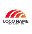 sunrise logo design inspiration vector image
