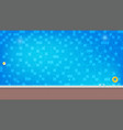 swimming pool with floating inflatable ball and vector image vector image