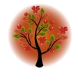 Tree growing berries and leaves vector image vector image