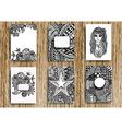 Tribal card design vector image