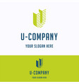 u company logo vector image vector image