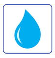 water drop icon vector image vector image