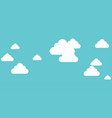 white clouds on blue background in flat design vector image vector image