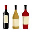 Wine bottles and labels design elements template vector image