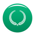 winner wreath icon green vector image vector image
