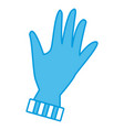 winter glove isolated vector image vector image