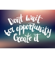 inspirational quote on blurred abstract vector image