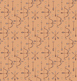 Seamless pattern with arrows bows and heart vector image