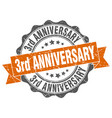 3rd anniversary stamp sign seal vector image vector image