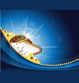 Abstract casino background with roulette and vector image vector image