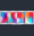 abstract modern vivid fluid colorful brochure set vector image vector image