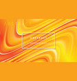 abstract orange wave flow background vector image vector image