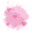 abstract watercolor spot background with pink vector image vector image