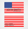 American Flag business card template vector image vector image