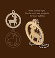 Aries zodiac signs can be used as a template for
