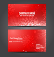 attractive business card template vector image vector image