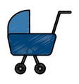 baby pram symbol vector image
