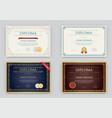 big set of diploma or certificate premium design vector image vector image