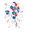 Blue red and white balloons vector image vector image