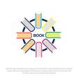 book logo designs vector image vector image