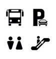 bus station simple related icons vector image vector image