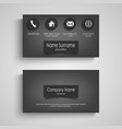 business card dark with design labels template vector image vector image