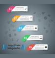 business infographics origami style vector image vector image