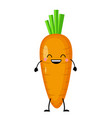carrot in flat style isolat vector image