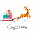 christmas greeting card template in white vector image vector image