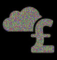 cloud pound banking halftone collage of dots vector image vector image