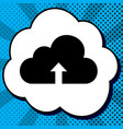 cloud technology sign black icon in vector image vector image