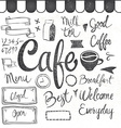 coffee set graphic elements and inscriptions vector image vector image