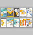 cover design annual report template of vector image vector image
