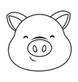 cute pig face cartoon vector image