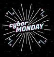 cyber monday sale label template design web vector image vector image