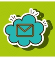 email message envelope cloud vector image vector image