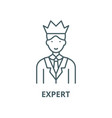 expert line icon linear concept outline vector image vector image