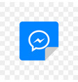 facebook messenger social media icon design vector image vector image