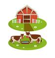 farm house barn or farmer agriculture and cattle vector image