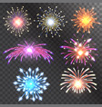 firework holiday event vector image vector image