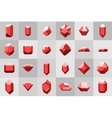 Flat icon set Diamond gemstones and stones in vector image