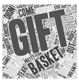 gift baskets for men Word Cloud Concept vector image vector image