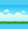 green grass field and blue sky vector image vector image