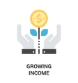 growing income icon concept vector image