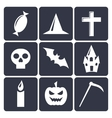 Halloween flat icons Set 1 vector image