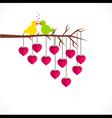 happy valentine day or loving bird greeting design vector image