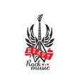 heavy rock music logo emblem for rock band vector image