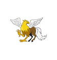 Hippogriff Prancing Isolated Cartoon vector image vector image